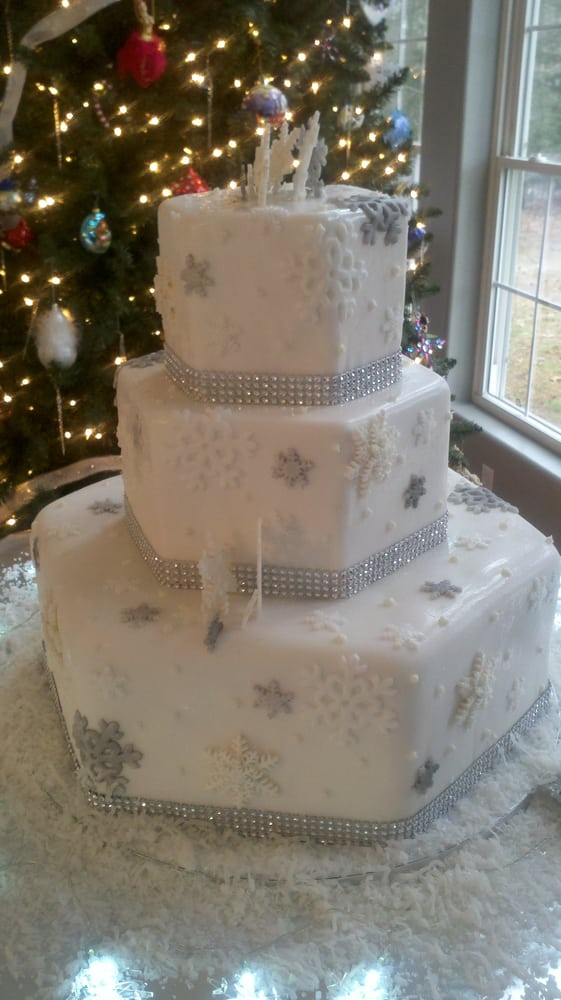 Cake Art Md : Snowflake and rhinestone wedding cake Yelp