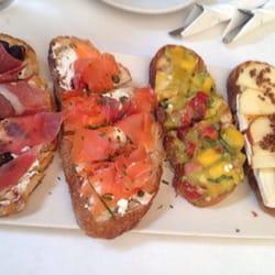 Street & Vine - Prosciutto, salmon, mango and avocado, apple brie ...