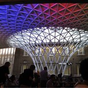 View inside St. Pancras Station, King's…