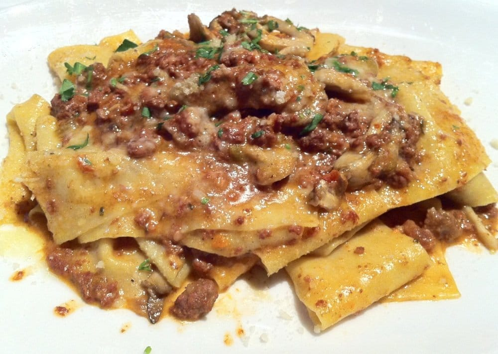 Parpadelle With Lamb Bolognese Recipe — Dishmaps