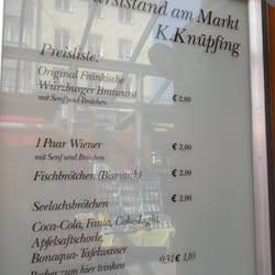 Bratwurststand Knüpfing, Würzburg, Bayern
