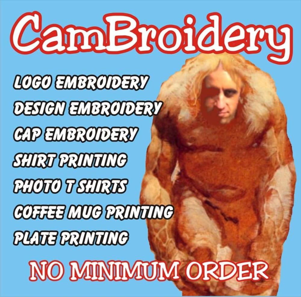 Cambroidery screen printing t shirt printing for Shirt printing stockton ca