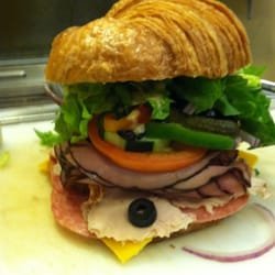 Sandwich Joint - Turkey roast beef salami Swiss on a croissant - Los ...