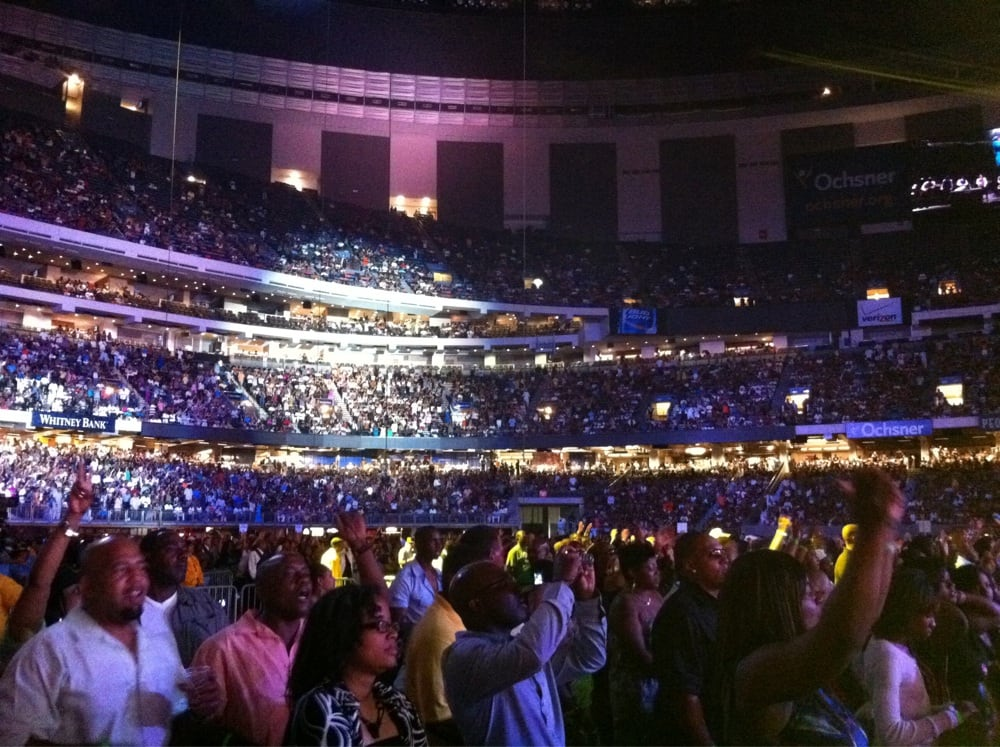 From the floor during essence festival yelp for Hotels near mercedes benz superdome in new orleans