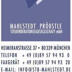 Mahlstedt Pröbstle Steuerberatungs GmbH, München, Bayern