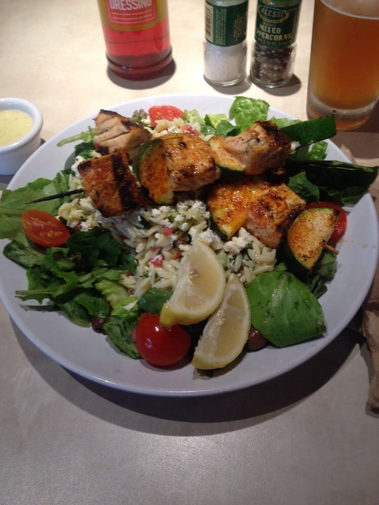 Tabouli Salad With Salmon Skewers Yelp