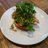 Cornbread French Toast - Bacon, Rocket, Avocado, Paprika Maple Syrup
