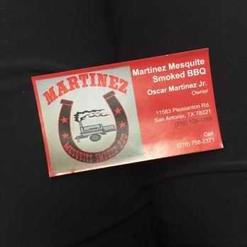 Martinez mesquite smoked bbq 20 photos 11 reviews for Bbq business cards
