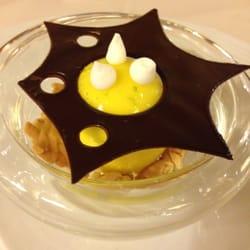 Café de la Paix - Paris, France. Lemon dessert, Cafe de la Paix