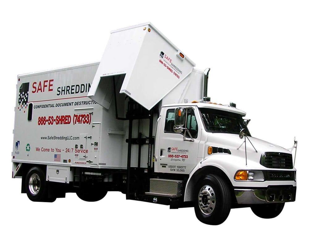paper shredding trucks for sale