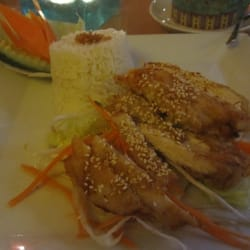 lime chicken with sesame