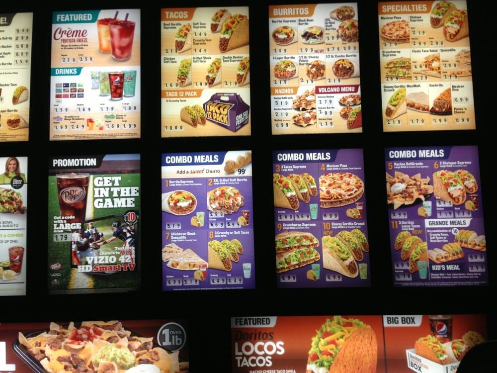Taco Bell Combo Menu Prices Doritos Loco Combo Taco Bell