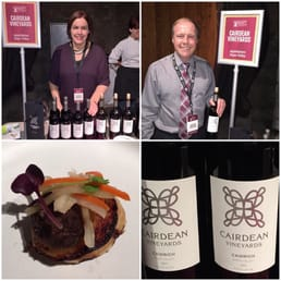 Winemaker Stacia Williams & her husband/owner Edwin Williams  at Flavor! Napa NOV 22, 2014 Appellation Trail