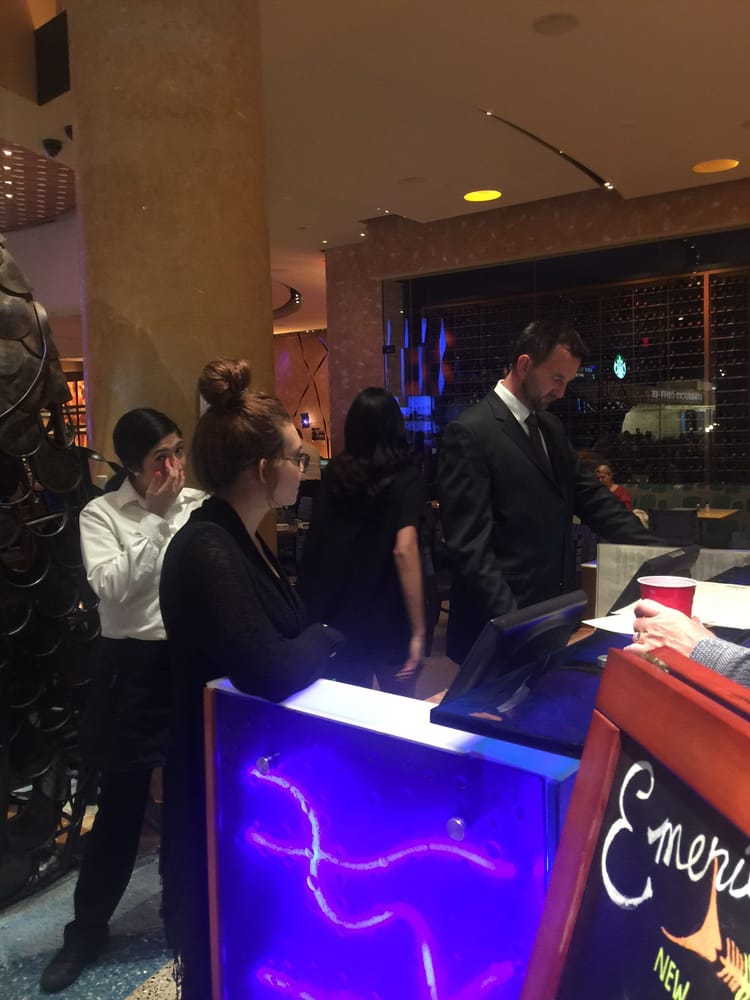 Staff remained quiet while tom acted rude yelp for Emerils fish house