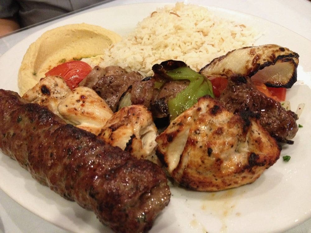 3 skewer combination lamb kafta chicken kabob beef for About lebanese cuisine