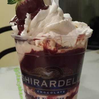 ... Dark Chocolate Hot Fudge. Cookie Dough ice cream and Cookies n Cream