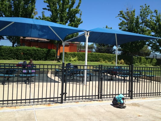 Shaded Picnic Area Close To The Tots Area Yelp