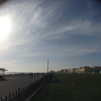 Sun, sea and scenery at Hove Lawns.