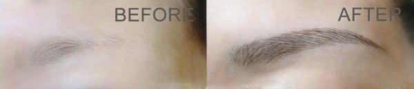 Eyebrow tattoo with 3d hair strokes yelp for 3d eyebrow tattoo near me