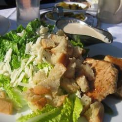 cesar salad with fried turkey