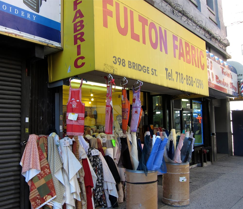 Fulton fabrics 23 photos fabric stores downtown for Art and craft store in brooklyn ny