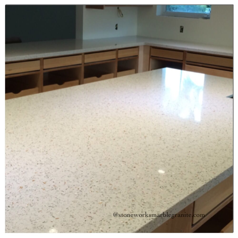 Our First Experience With Recycle Glass Countertops