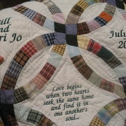 personlized wedding ring quilt