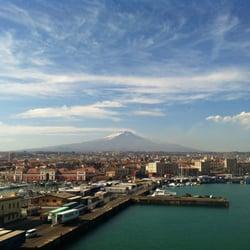 Blick über Catania auf den Ätna