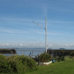 Yacht club and harbour entrance above…