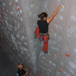 Climbing wall, open to non-residents as long as you have your own equipment