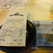 Our bill for Museo del Jamon with one…