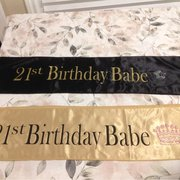 Los Angeles World Embroidery - Los Angeles, CA, États-Unis. Made my daughters 2 sashes for her 21st Birthday celebration in 1 day! Awesome! Thanks William!!