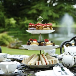 Afternoon Tea on the Priory patio