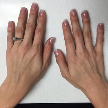 Pink and white acrylic nails nyc