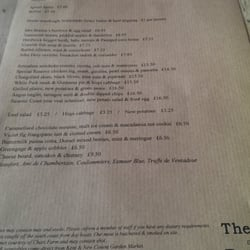 Lovely menu.