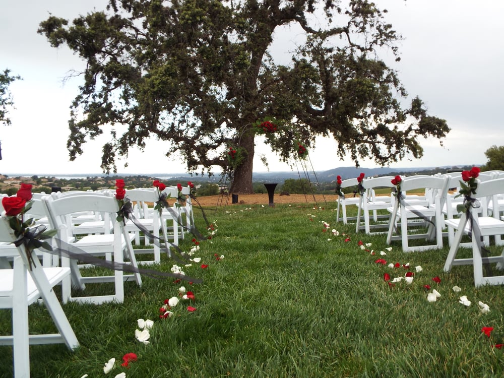 Ceremony site with panoramic view of Folsom Lake | Yelp
