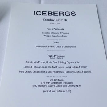 Icebergs dining room and