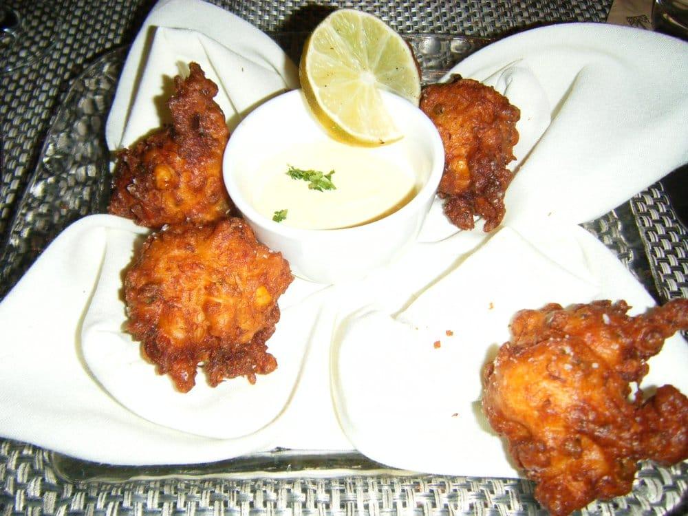... DC, United States. salt cod and crab fritters w/ mango habanero crema
