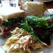 Delicious goat cheese and beet sandwich