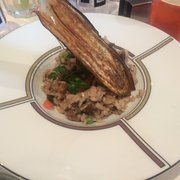 Any'teas - Bordeaux, France. Risotto aux légumes verts et champignons : délicieux plat du jour (veggie-friendly)