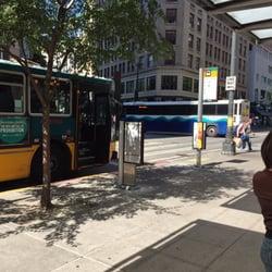 King County Metro Bus Stop - Seattle, WA, États-Unis. Bus stops
