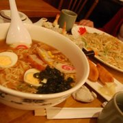 ramen, vegetable noodles, sushi, inari