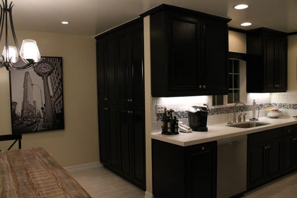 Cabinets Stained Black Cabinets Stained Black