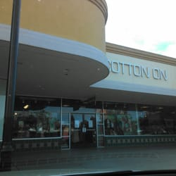 Cotton on clothing store. Clothing stores