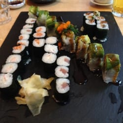 Beautiful sushi platter we mixed & matched ourselves!