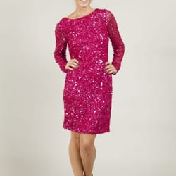Ruby Ray Raspberry Sequin Dress £179.99