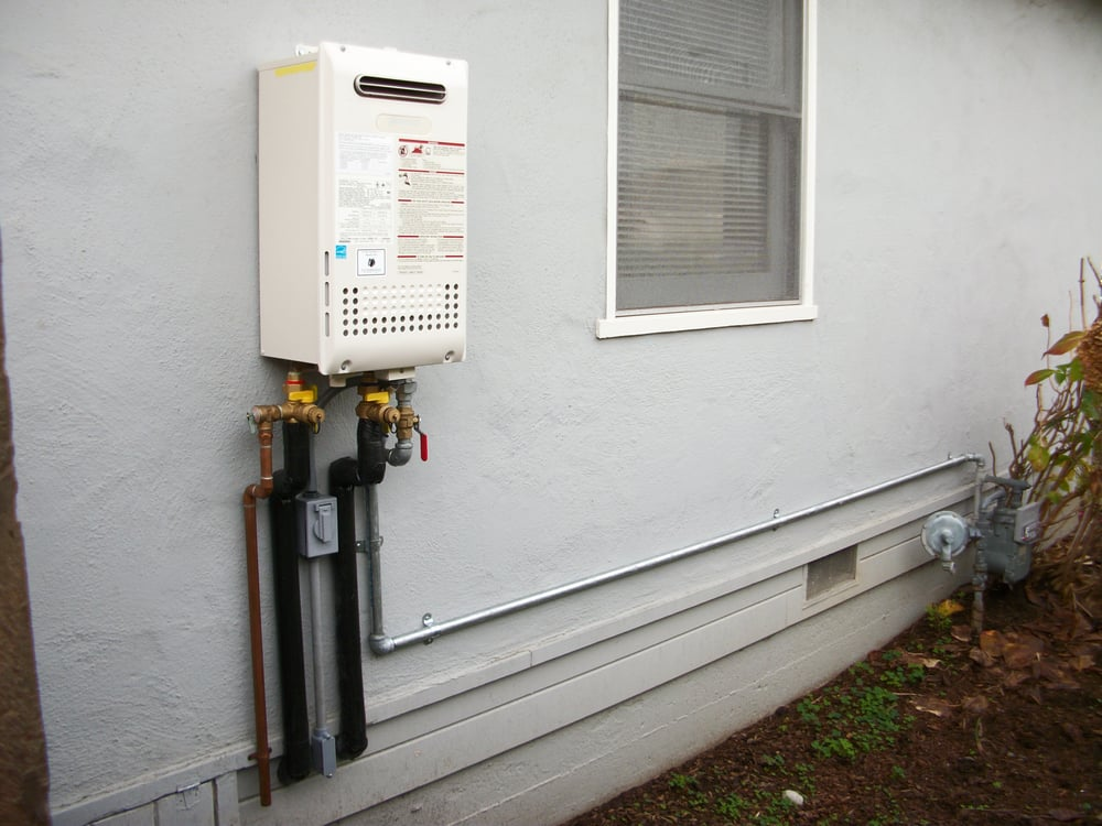 Media Water Heater >> Noritz NR98-OD Tankless water heater outdoor model. New gas line from meter, copper water lines ...