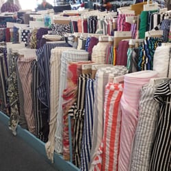 Clothes fabric stores