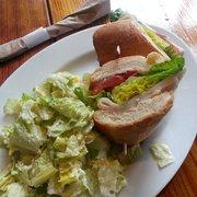 The Creamery - Turkey sammy with side salad - San Francisco, CA, Vereinigte Staaten