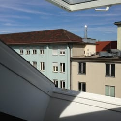 """View from our """"Skylight"""" window"""